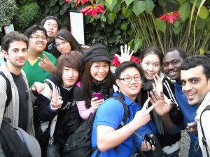 ILI students in the botanical garden