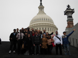 ILI students in front of the US Capitol