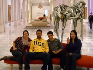 ILI students in a museum