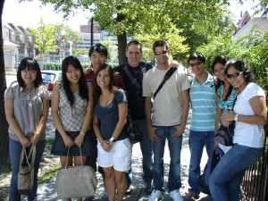 ILI students on the Dupont Circle walking tour
