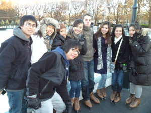 ILI students at ice rink