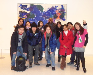 ILI students in art gallery