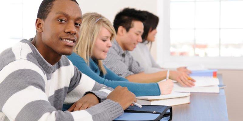 international students in classroom
