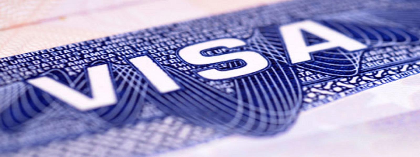 US visa in passport